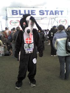 london marathon dog suit